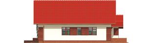 Projekt domu Ruri G1 - elewacja lewa