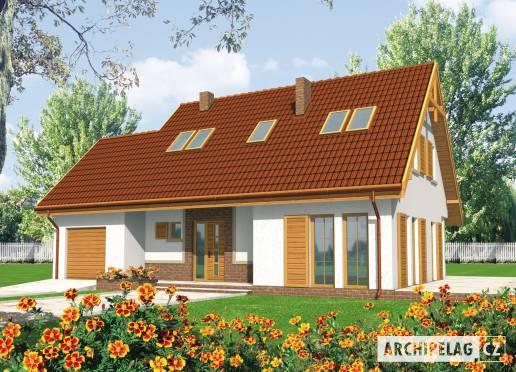 Projekt rodinného domu - Popelka (s garáží)