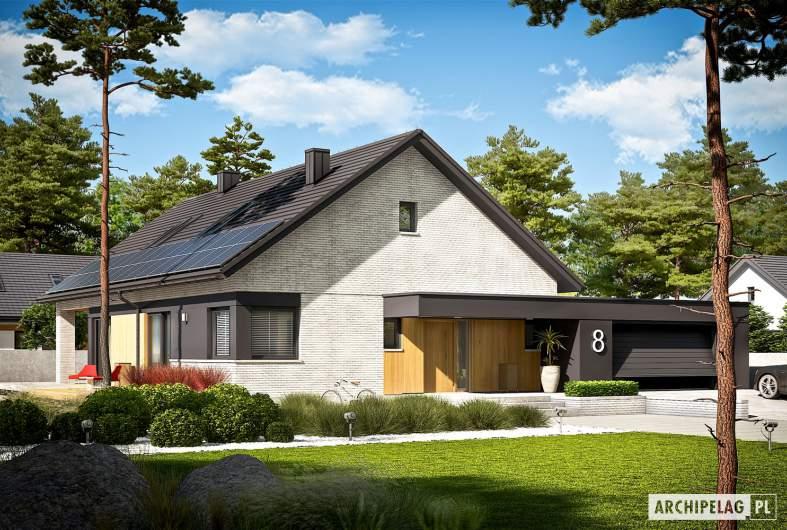 Projekt domu Daniel VII G2 - wizualizacja frontowa