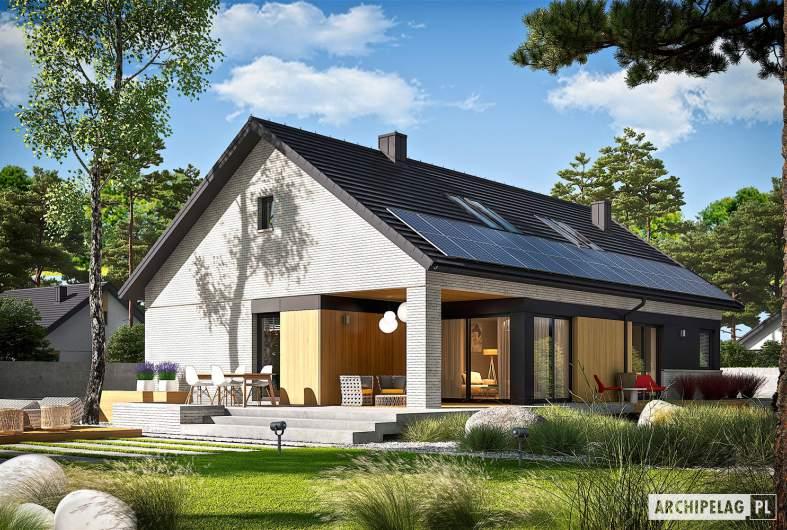 Projekt domu Daniel VII G2 - wizualizacja ogrodowa