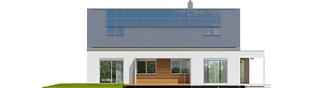 Projekt domu Magnus G2 ENERGO PLUS - elewacja tylna