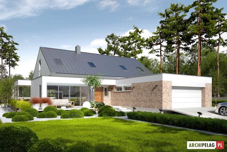 Projekt domu Magnus G2 ENERGO PLUS - wizualizacja frontowa