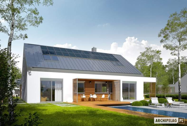 Projekt domu Magnus G2 ENERGO PLUS - wizualizacja ogrodowa