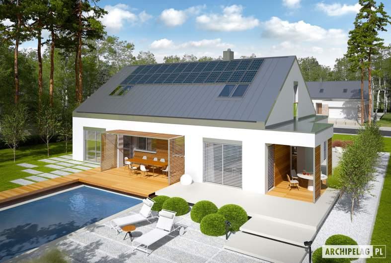 Projekt domu Magnus G2 ENERGO PLUS - widok z góry