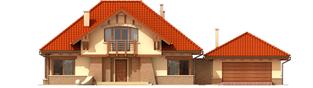 Projekt domu Edek G2 - elewacja frontowa