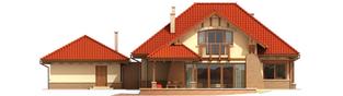 Projekt domu Edek G2 - elewacja tylna