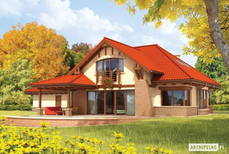 Projekt domu Edek G2 - wizualizacja ogrodowa