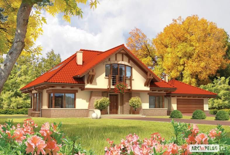 Projekt domu Edek G2 - wizualizacja frontowa