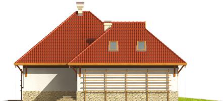Letty G2 - Projekt domu Letycja G2 - elewacja prawa