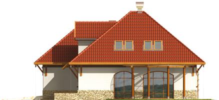 Letty G2 - Projekt domu Letycja G2 - elewacja lewa