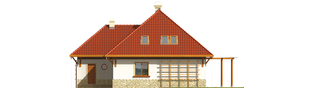 Projekt domu Letycja G2 - elewacja tylna