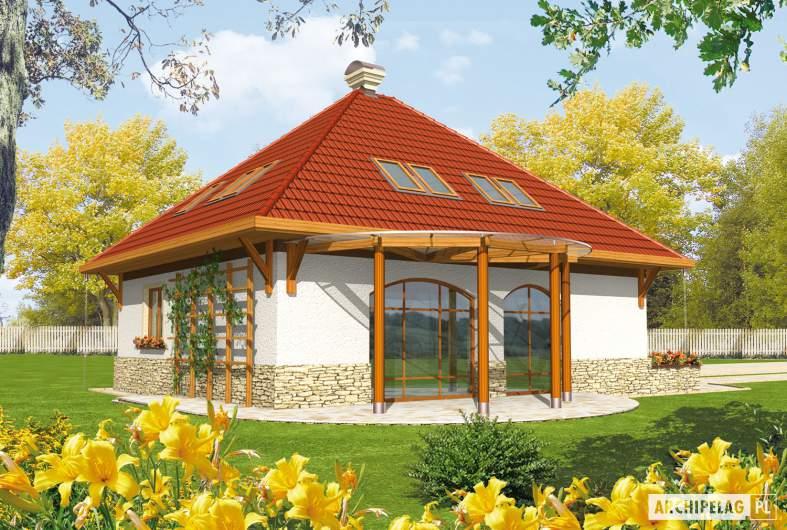 Projekt domu Letycja G2 - wizualizacja ogrodowa