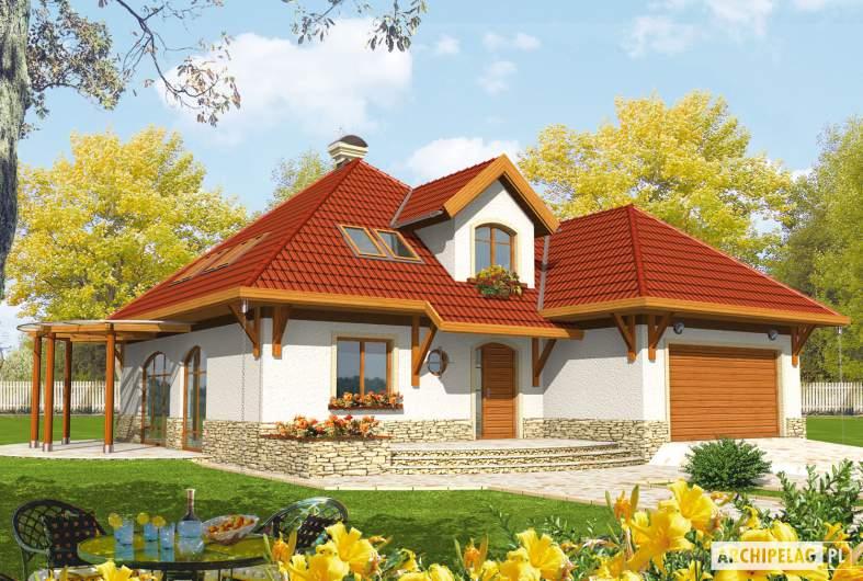 Projekt domu Letycja G2 - wizualizacja frontowa