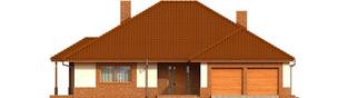 Projekt domu Mariusz G2 - elewacja frontowa