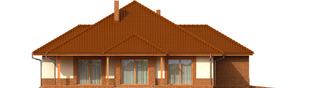 Projekt domu Mariusz G2 - elewacja lewa