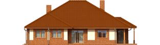 Projekt domu Mariusz G2 - elewacja tylna