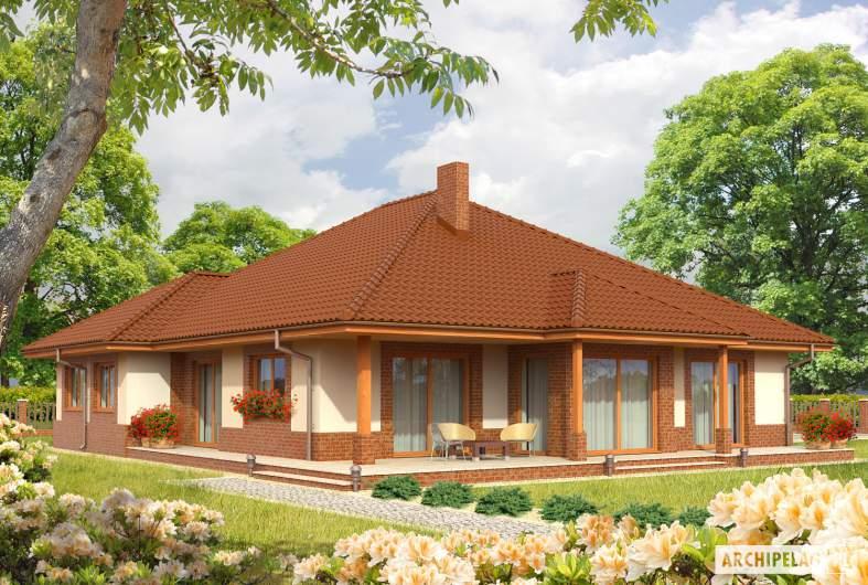 Projekt domu Mariusz G2 - Projekty domów ARCHIPELAG - Mariusz G2 - wizualizacja ogrodowa