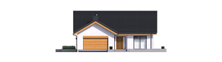 Projekt domu Simon G2 - elewacja frontowa