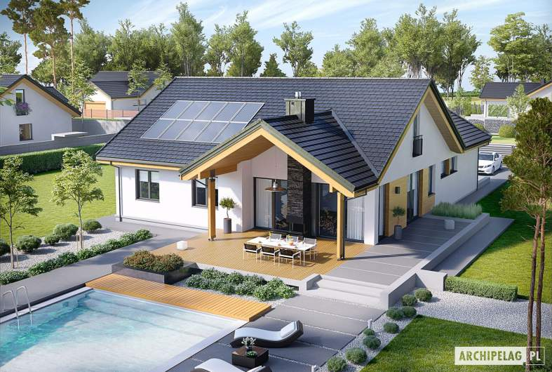 Projekt domu Simon G2 - widok z góry