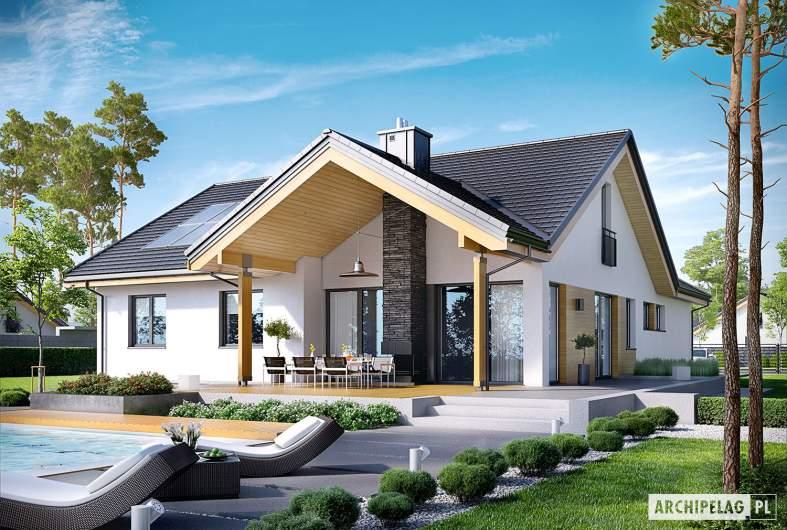 Projekt domu Simon G2 - wizualizacjaogrodowa