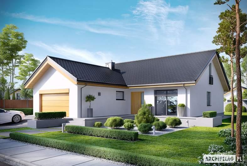 Projekt domu Simon G2 - wizualizacja frontowa