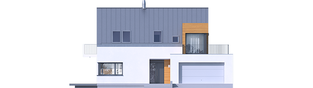 Projekt domu Nils II G2 ENERGO PLUS - elewacja frontowa