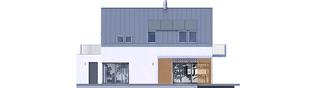 Projekt domu Nils II G2 ENERGO PLUS - elewacja tylna