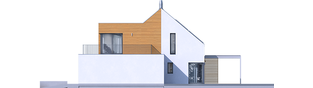 Projekt domu Nils II G2 ENERGO PLUS - elewacja prawa