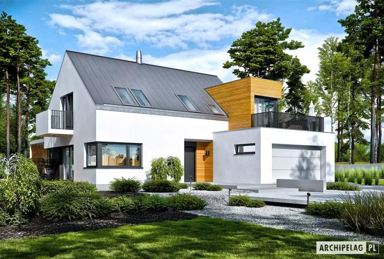 Projekt domu Nils II G2 ENERGO PLUS - wizualizacja frontowa