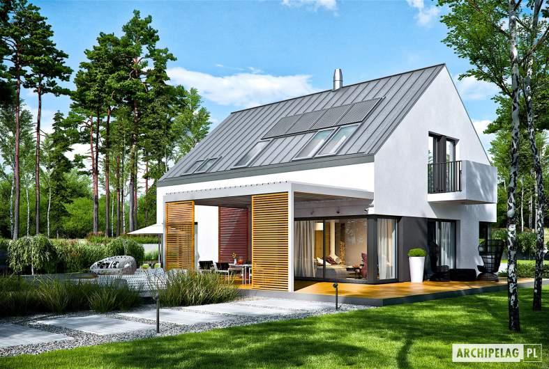 Projekt domu Nils II G2 ENERGO PLUS - wizualizacja ogrodowa