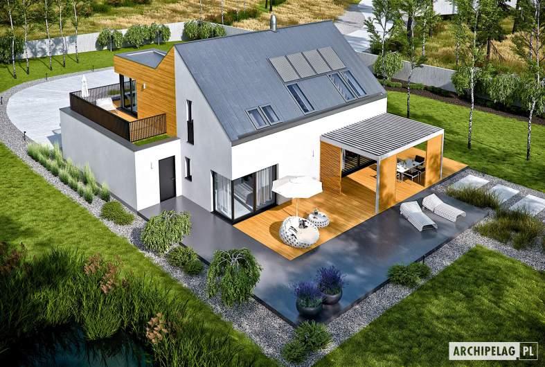 Projekt domu Nils II G2 ENERGO PLUS - widok z góry