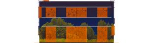 Projekt domu Graphics G1 - elewacja tylna