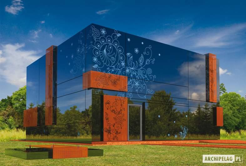 Projekt domu Graphics G1 - wizualizacja frontowa