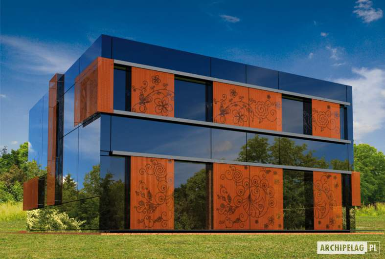 Projekt domu Graphics G1 - wizualizacja ogrodowa
