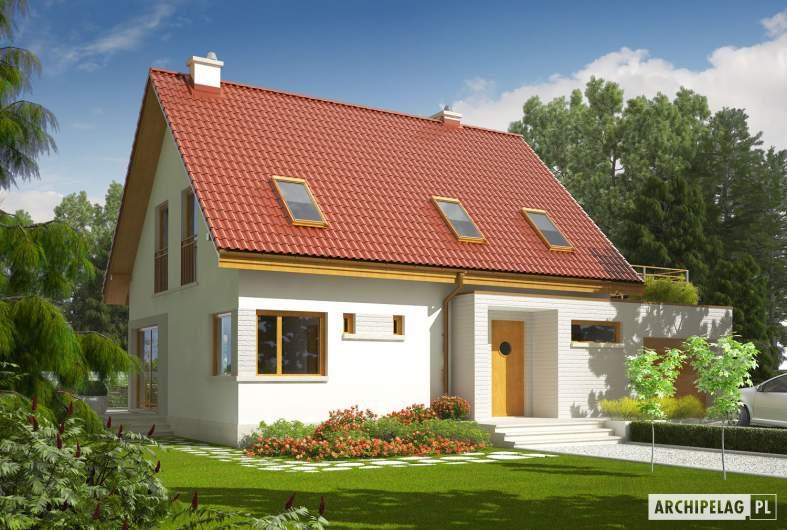 Projekt domu Tim II G1 - Projekty domów ARCHIPELAG - Tim II G1 - wizualizacja frontowa