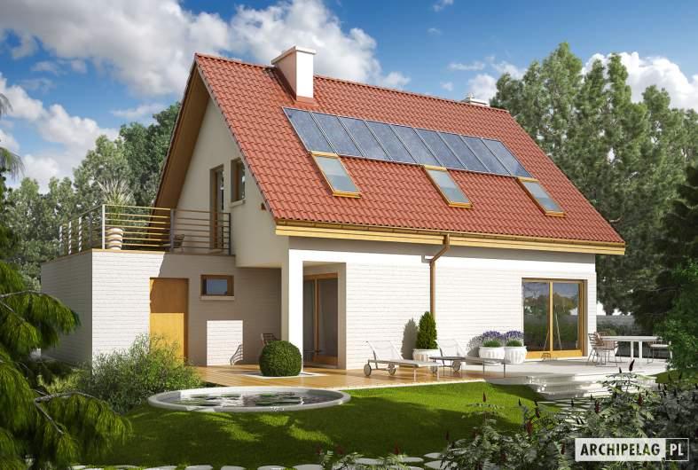 Projekt domu Tim II G1 - Projekty domów ARCHIPELAG - Tim II G1 - wizualizacja ogrodowa