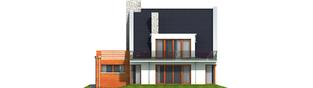 Projekt domu Adrian G1 - elewacja tylna