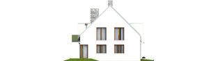 Projekt domu Adrian G1 - elewacja lewa