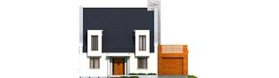 Projekt domu Adrian G1 - elewacja frontowa