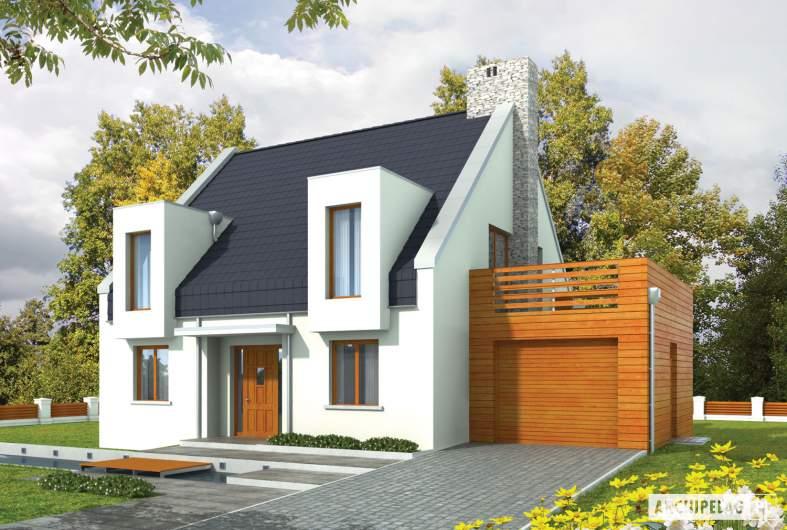 Projekt domu Adrian G1 - wizualizacja frontowa
