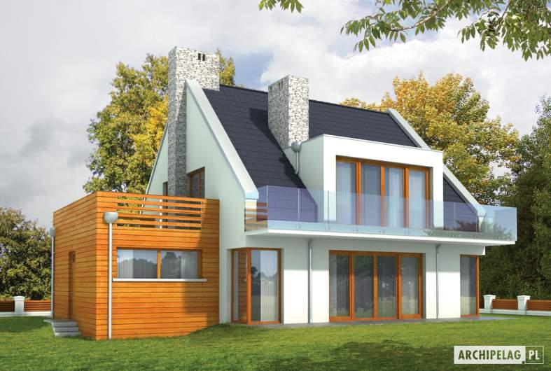 Projekt domu Adrian G1 - wizualizacja ogrodowa