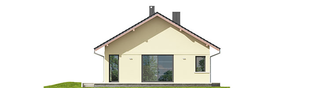 Projekt domu Karmela III ECONOMIC - elewacja lewa