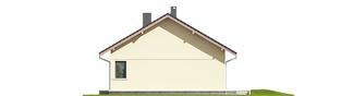 Projekt domu Karmela III ECONOMIC - elewacja prawa