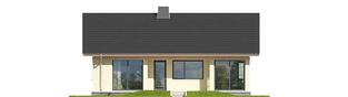 Projekt domu Karmela III ECONOMIC - elewacja tylna