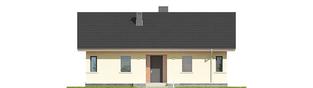 Projekt domu Karmela III ECONOMIC - elewacja frontowa