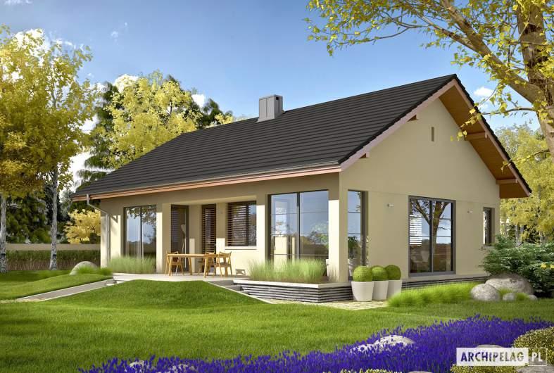 Projekt domu Karmela III ECONOMIC - wizualizacja ogrodowa