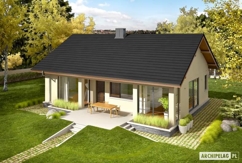 Projekt domu Karmela III ECONOMIC - widok z góry