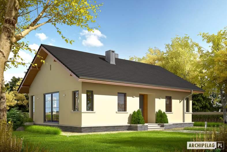 Projekt domu Karmela III ECONOMIC - wizualizacja frontowa