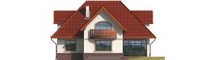 Projekt domu Ofelia G1 - elewacja tylna