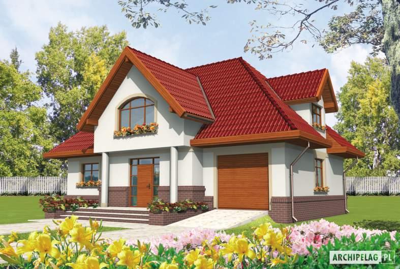 Projekt domu Ofelia G1 - wizualizacja frontowa